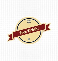 Free drink label vector
