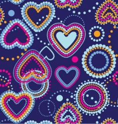Dotty hearts  seamless wallpaper vector