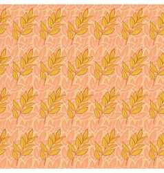 Seamless background leaves vector