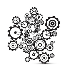 Abstract cogs - gears on white background vector