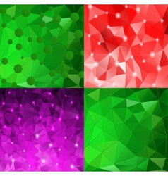 Set of elegant abstract background for your design vector