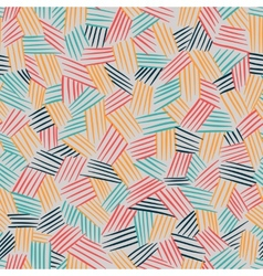 Seamless pattern with interweaving of lines vector