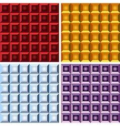 Geometrical gradient seamless pattern set vector