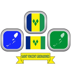 Symbol of saint vincent and the grenadines vector