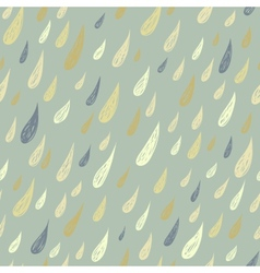 Cute seamless childish texture with rain vector