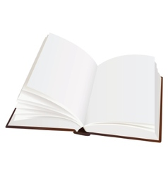 Realistic opened book with blank pages vector