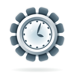 Creative clock icon vector
