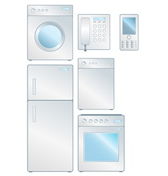 Household electronic set vector