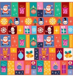 Merry christmas holiday pattern vector