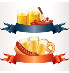 Octoberfest cartoon banners vector