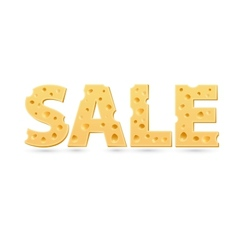 Sale word of cheese vector