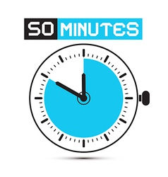 Fifty minutes stop watch - clock vector