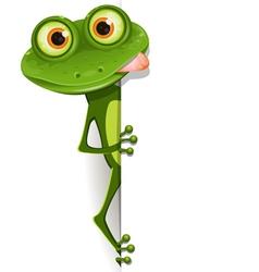Merry green frog vector
