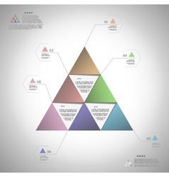 Infogrphic triangle for data presentation vector