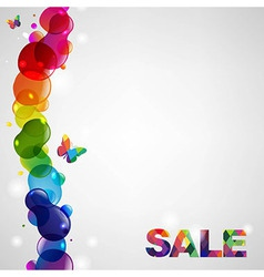 Colorful sale text vector