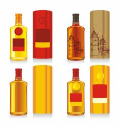 Bottles and boxes vector