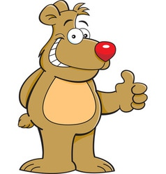 Cartoon bear giving thumbs up vector