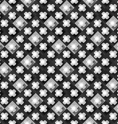 Seamless pattern from paper crosses on a black and vector