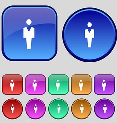 Human man person male toilet icon sign a set of vector