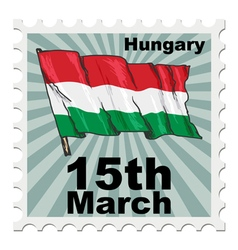 National day of hungary vector