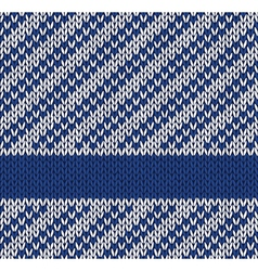 Marine knitted pattern vector