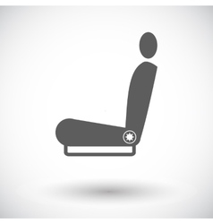 Icon heated seat vector