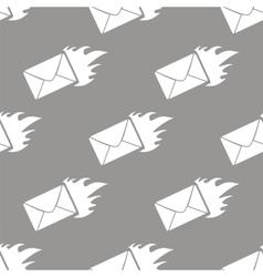 Hot letter seamless pattern vector
