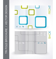 Tri-fold travel mock up brochure design vector