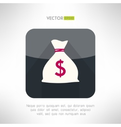 Simple money bag icon made in modern clean and vector
