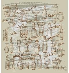 Beverages vector