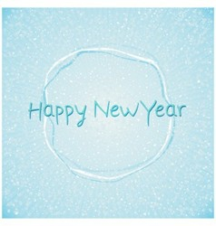 Blue happy new year abstract background vector