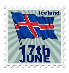 National day of iceland vector