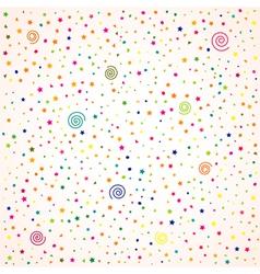 Birthday background confetti vector