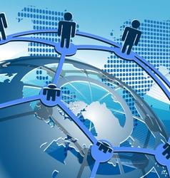 Network of globe vector