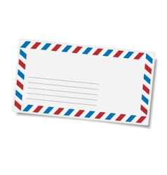 Blank mailing envelope vector