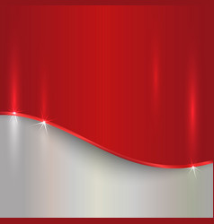 Abstract cherry red and silver metallic background vector