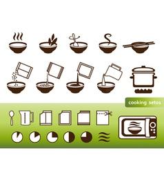 Fastfood manuals vector