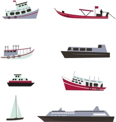 Set of boats vector