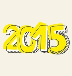 New year 2015 hand drawn sign vector