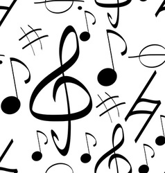Seamless pattern music signs background vector