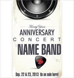 Anniversary rock concert poster vector
