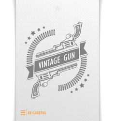 Gray graphic pattern guns and bullets vector