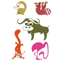 Cartoon funny animals 5 vector