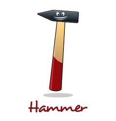 Cartoon smiling hammer tool vector
