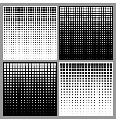 Set of abstract halftone backgrounds vector