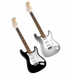 Electric guitars vector