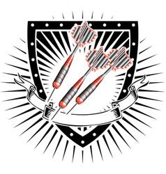 Darts shield vector