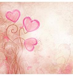 Valentines heart flower vector