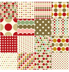 Seamless christmas polka dots pattern vector