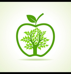 Tree inside the apple vector